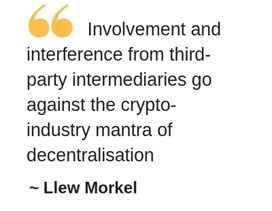 Involvement and interference from third-party intermediaries go against the crypto-industry mantra of decentralisation