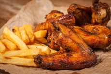 Flame Grilled Chicken and Chips at Zebro's